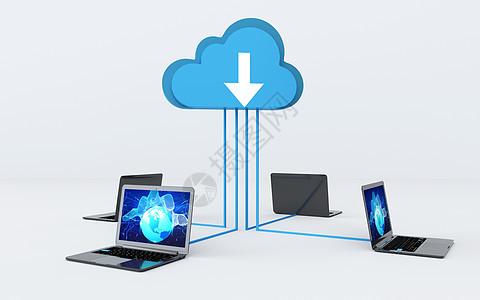 计算机云数据下载图片