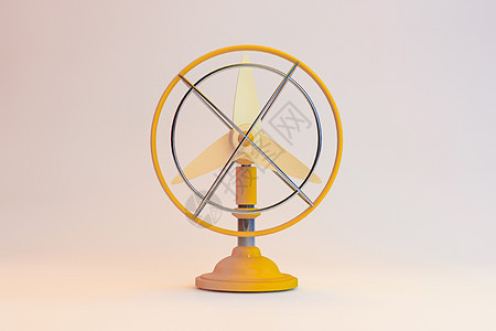 夏日儿童风扇模型图片