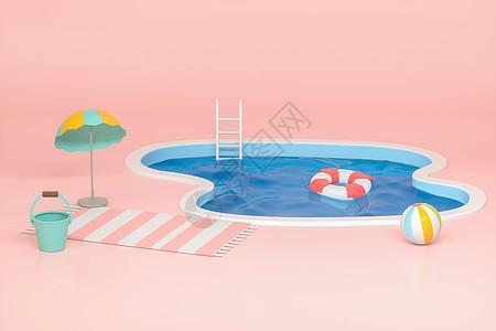 夏日创意泳池图片