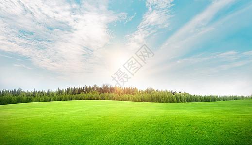 草地天空背景图片