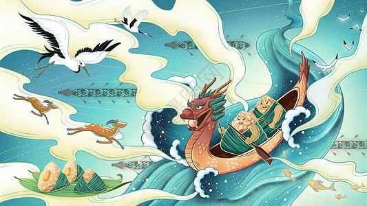 国潮端午赛龙舟图片