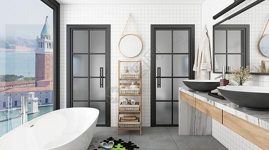 室内卫浴场景图片