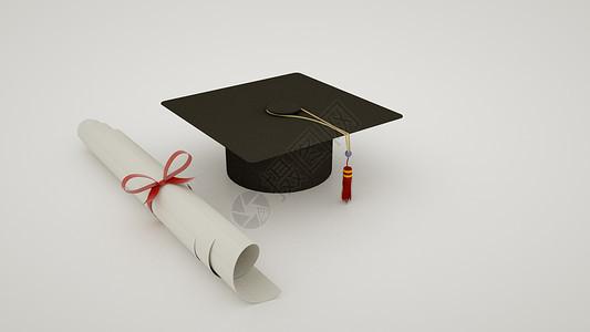 学士帽和毕业通知书图片
