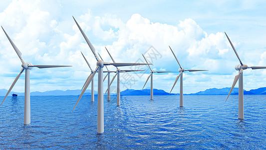 创意风力发电场景图片