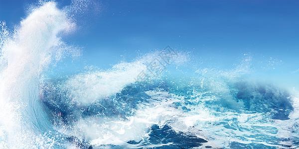 海浪背景图片