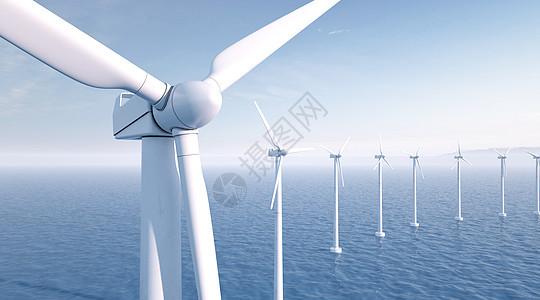 风力发电场景图片