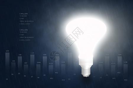 创意金融数据图图片