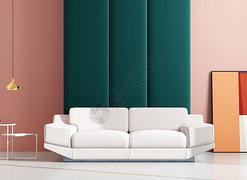 色彩家具-创意背景