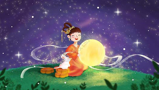 中秋节嫦娥和玉兔picture