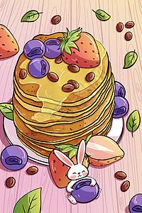 手绘美味松饼插画picture