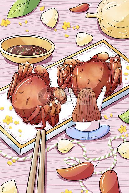 中秋节手绘螃蟹picture