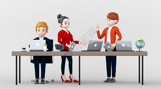 商务主题3D人物插画图片