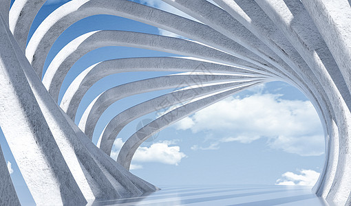 立体建筑空间场景图片