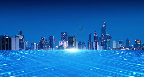 现代商业城市科技图片