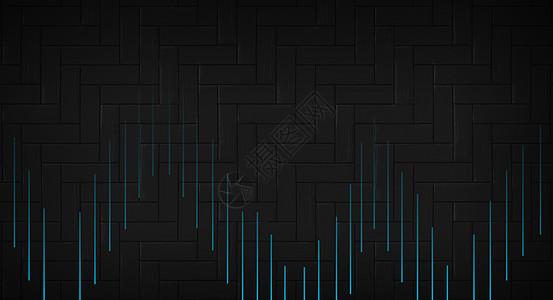 立体几何形黑色背景图片
