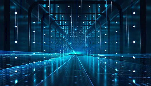 蓝色科技空间背景图片