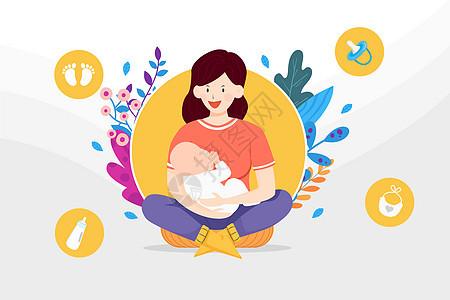 温馨的母乳时光图片