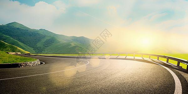 户外大气公路背景图片