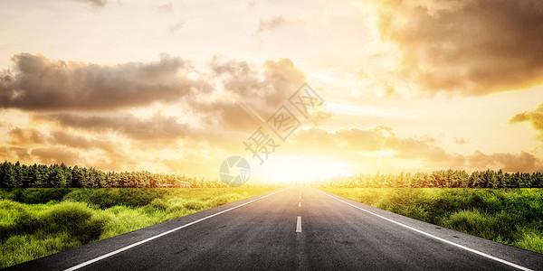 郊外公路背景图片