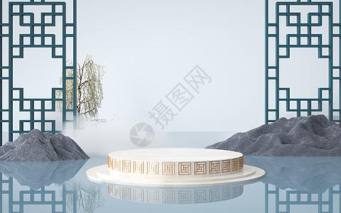 3D中国风背景图片