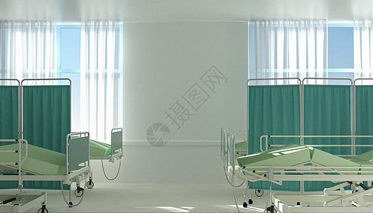 C4D医院场景图片