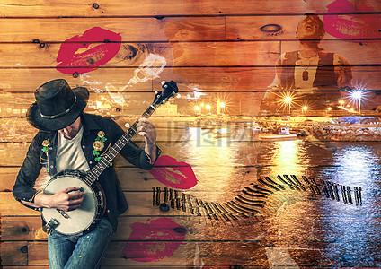 弹奏吉他的歌者图片
