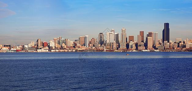 西雅图的海岸线天际线图片