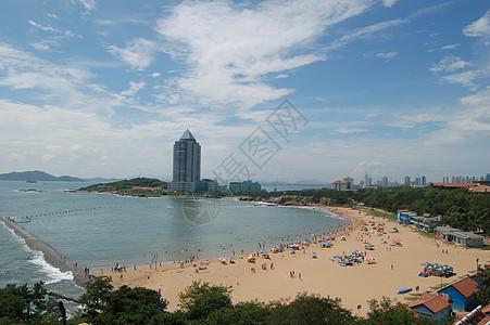 青岛海滩图片