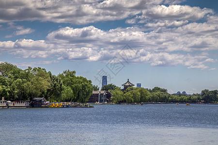 湖景什刹海图片