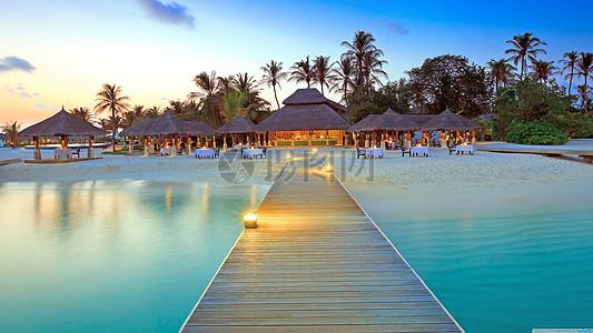 傍晚壁纸风景夏威夷图片