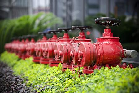 红色消防栓阀门图片