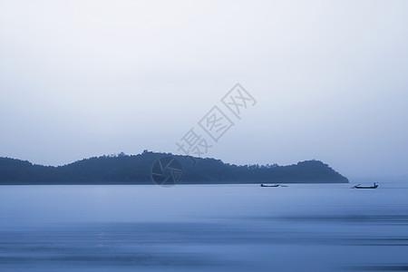 水墨东钱湖图片