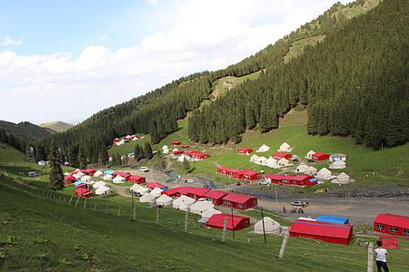 新疆南山白杨沟远景3图片