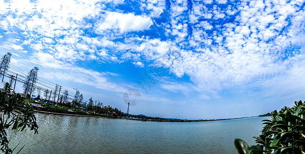 蓝蓝的天空、白白的云图片