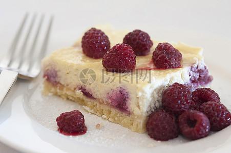 树莓和芝士蛋糕图片