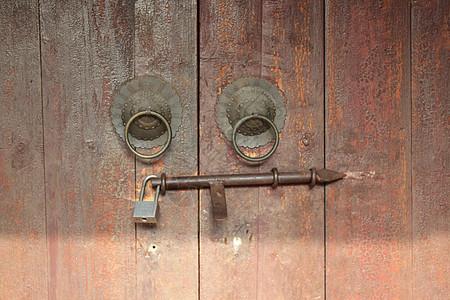 一把老门锁图片