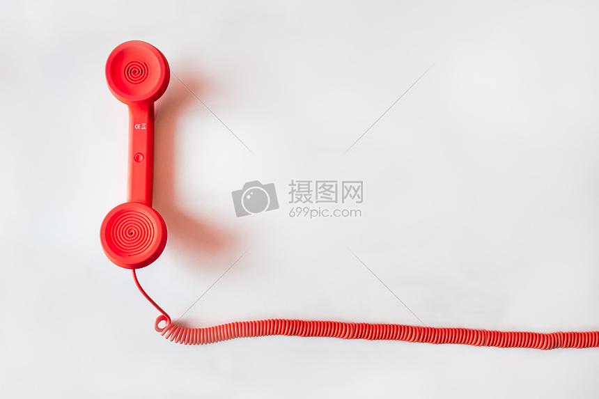 红色的电话图片