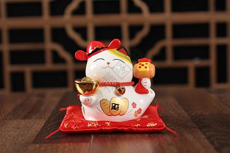 陶瓷摆件小猫咪-財图片