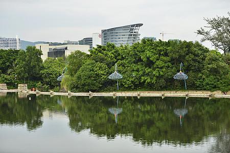 公园 湖面图片