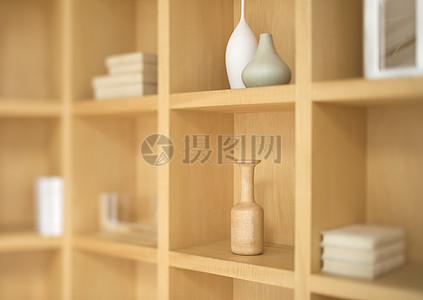 木柜里的展览品图片