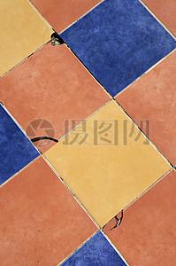 彩色地板砖图片