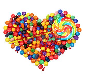 彩色爱心波板糖图片