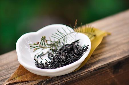 中国红茶叶特写图片