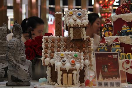 圣诞姜饼房子图片