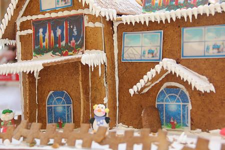圣诞节姜饼屋图片