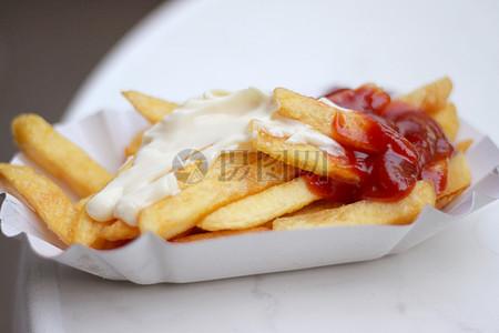薯条番茄酱图片