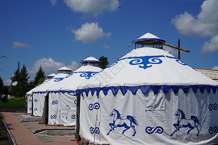 游玩蒙古包图片