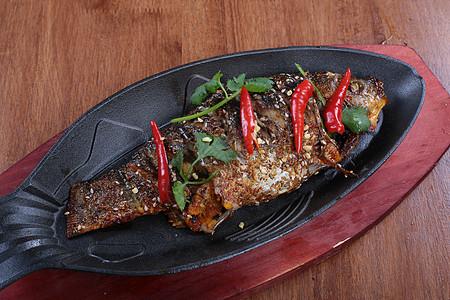 碳烤鲫鱼 烧烤 辣椒 烧烤 撸串 菜谱 美食 美味 高清大图图片