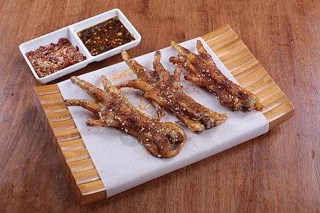 烤酱鸡爪子 生鸡爪子   烧烤 撸串 菜谱 美食 美味 高清 大图图片