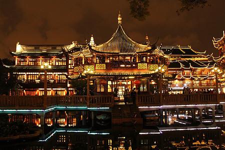上海豫园夜景图片